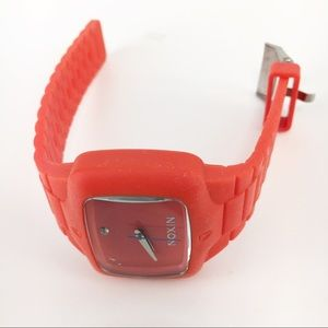 Nixon Rubber Player Watch Red